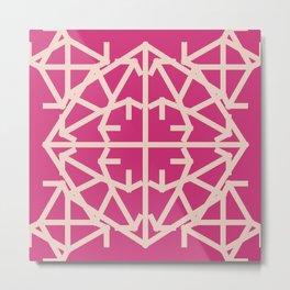 Diamond Bug Pale Dogwood - Pink Yarrow Metal Print