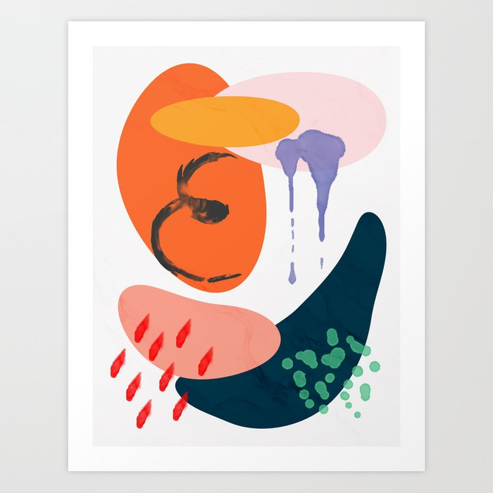 abstract dripping Art Print