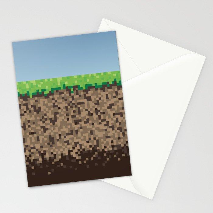 Minecraft Block Stationery Cards