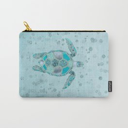 Glamour Aqua Turquoise Turtle Underwater Scenery Carry-All Pouch