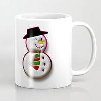 snowman Mugs featuring Snowman by Gaspar Avila