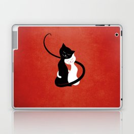 White And Black Cats In Love (red) Laptop & iPad Skin