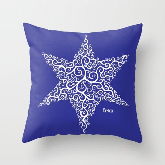 David's Star Throw Pillow