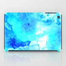 Modern blue sea hand painted watercolor iPad Case