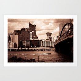 Pittsburgh Sepia Art Print