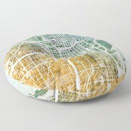 Chicago City Street Map Floor Pillow