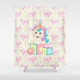 Baby Unicorn Shower Curtain