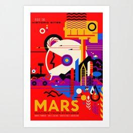 Mars Tour : Galaxy Space Art Print