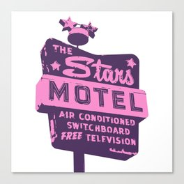 Seeing Stars ... Motel ... (Purple/Pink Sign) Canvas Print