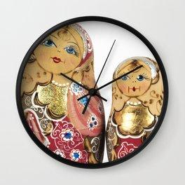 Babushka nesting dolls Wall Clock