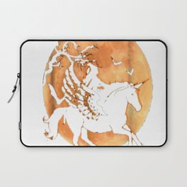 Brooms Are For Amateurs T-Shirt Halloween Riding Unicorn Laptop Sleeve