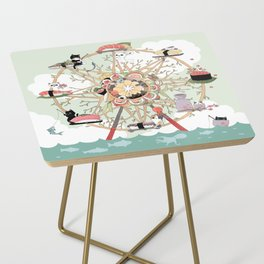 The Sushi Wheel Side Table
