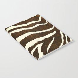 ANIMAL PRINT ZEBRA IN WINTER 2 BROWN AND BEIGE Notebook