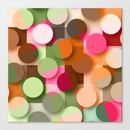 dots & squares Canvas Print