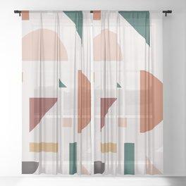 Abstract Geometric 30 Sheer Curtain