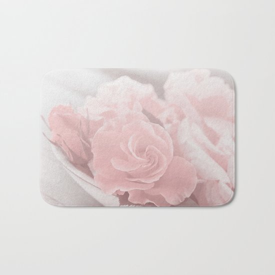 Lovely Rose in soft pink pastel tone Bath Mat