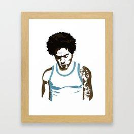 LENNY KRAVITZ - PORTRAIT Framed Art Print