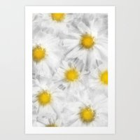 daisies Art Prints featuring Daisies by Klara Acel