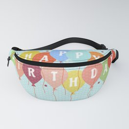 Colorful Birthday card Fanny Pack