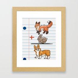 Corgi Math Framed Art Print
