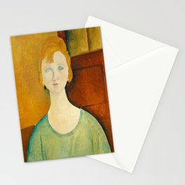 Amedeo Modigliani, Girl in a green blouse, 1917 Stationery Cards