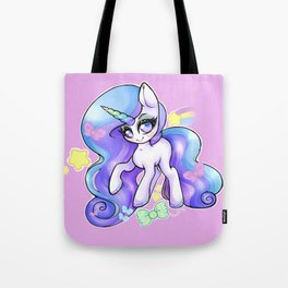 Pastel Rainbow Unicorn with Glitter Mascara Overload Tote Bag