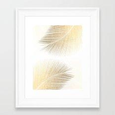Palm leaf synchronicity - gold Framed Art Print