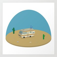Breaking Bad RV | isometric Art Print