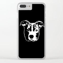 Pit Bull Terrier Clear iPhone Case