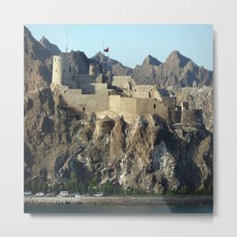 Al Mirani Fort Mutrah Oman Metal Print