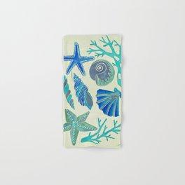 Blue Seashells Hand & Bath Towel