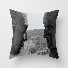 Washington & Guyasuta Throw Pillow