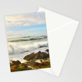Waves crashing on the 17 mile drive Stationery Cards
