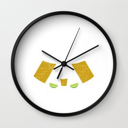 Cocktail life happens. Tequila helps Wall Clock