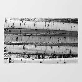 Into the Woods / Black & White Rug