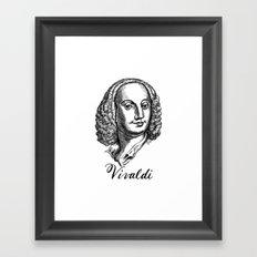 Antonio Vivaldi portrait Framed Art Print