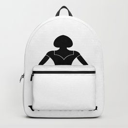 A sign for the toilet female Backpack