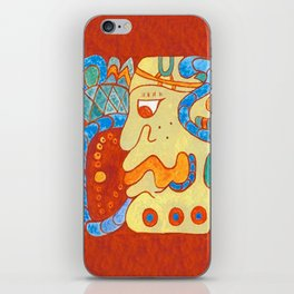 MAYAN GLYPH OF A SPIRIT UNNAMED iPhone Skin