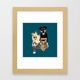 Drogo Bowser Beau and Olli Framed Art Print