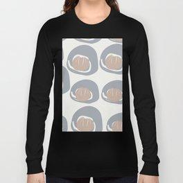 Grey Pale Rust Pattern Long Sleeve T-shirt