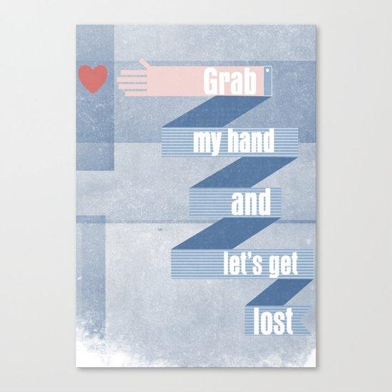 grab my hand... Canvas Print