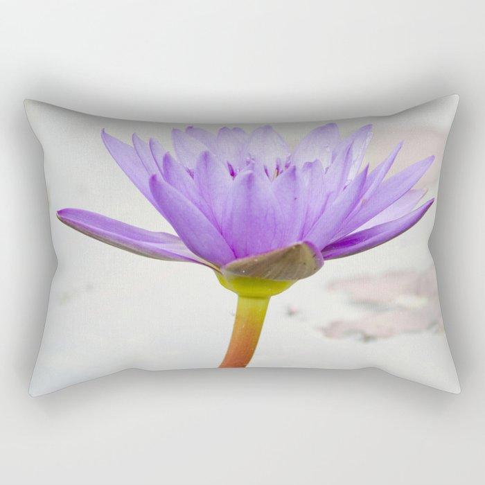 Blue Lotus Reflection Rectangular Pillow