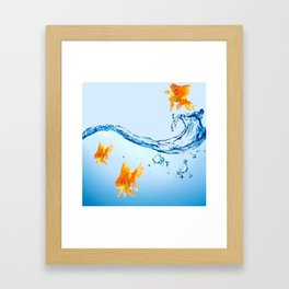 GOLDFISH AQUARIUM WATER ART Framed Art Print