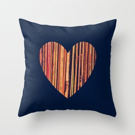 Valentine's Day Vinyl Records Heart Hipster Throw Pillow