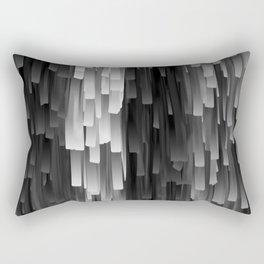 Fringe (Black and White) Rectangular Pillow