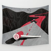 anarchy Wall Tapestries featuring Sons Of Anarchy Print by Take Heed
