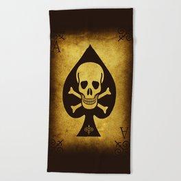 Death Card Ace Of Spades Beach Towel