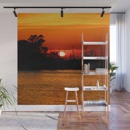 Cape Fear River Sunset Wall Mural