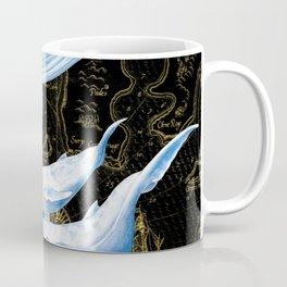 Blue Whales Family Golden Black Chic Coffee Mug