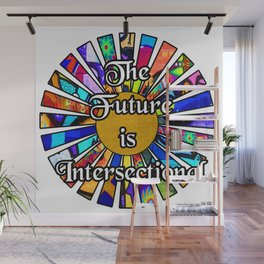 The Future is Intersectional Graffiti Sunrays Wall Mural